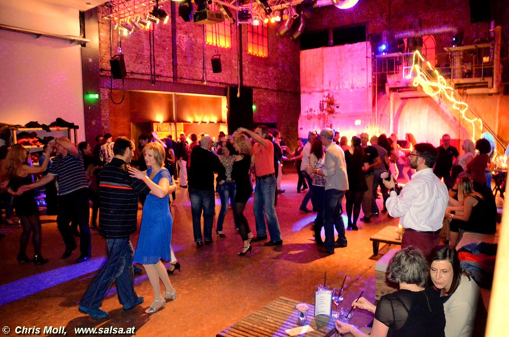 Salsa  in Kesselhaus der alten Spinnerei in Rosenheim (click here to see more pictures of that location or reload to see another picture)